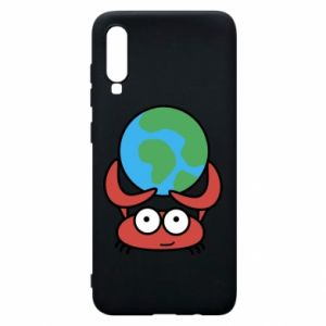 Phone case for Samsung A70 I hold the world!