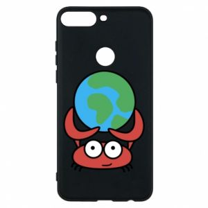 Phone case for Huawei Y7 Prime 2018 I hold the world!