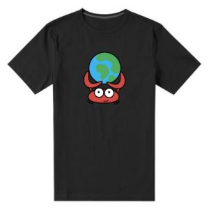 Męska premium koszulka Trzymam świat!