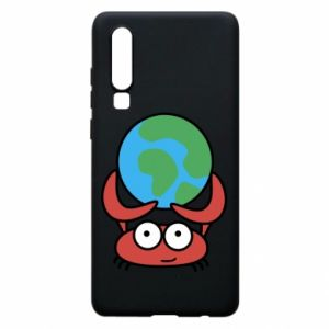 Phone case for Huawei P30 I hold the world!