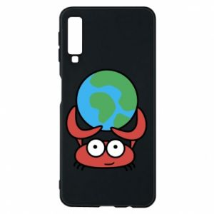 Phone case for Samsung A7 2018 I hold the world!