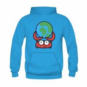 Kid's hoodie I hold the world!