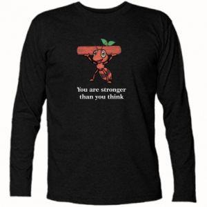 Koszulka z długim rękawem You are stronger than you think