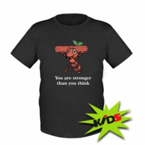 Dziecięcy T-shirt You are stronger than you think