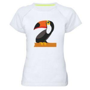 Damska koszulka sportowa Tucan na gałęzi