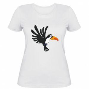 Damska koszulka Tukan ilustracja w locie
