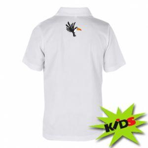 Dziecięca koszulka polo Tukan ilustracja w locie