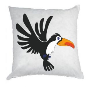 Poduszka Tukan ilustracja w locie