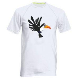 Męska koszulka sportowa Tukan ilustracja w locie