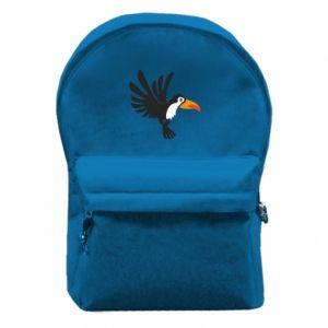 Plecak z przednią kieszenią Tukan ilustracja w locie