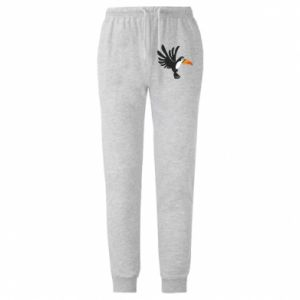 Męskie spodnie lekkie Tukan ilustracja w locie