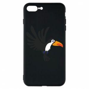 Etui na iPhone 7 Plus Tukan ilustracja w locie