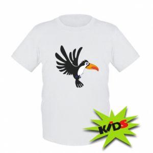 Dziecięcy T-shirt Tukan ilustracja w locie