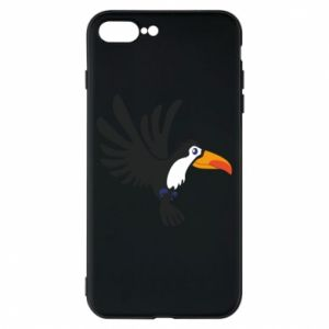 Etui na iPhone 8 Plus Tukan ilustracja w locie