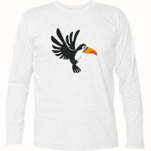 Koszulka z długim rękawem Tukan ilustracja w locie