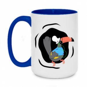 Two-toned mug 450ml Toucan