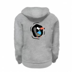 Kid's zipped hoodie % print% Toucan