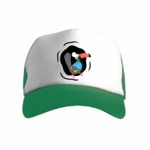 Kid's Trucker Hat Toucan