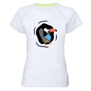 Damska koszulka sportowa Tukan - PrintSalon