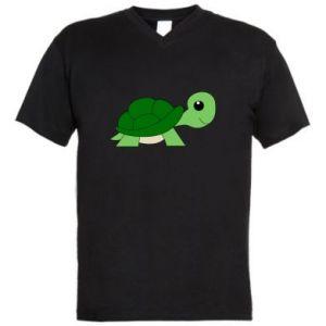 Męska koszulka V-neck Baby turtle