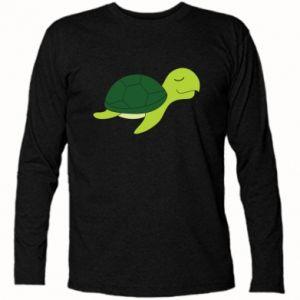 Long Sleeve T-shirt Sleeping turtle - PrintSalon