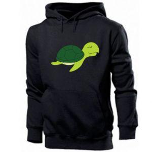 Men's hoodie Sleeping turtle - PrintSalon