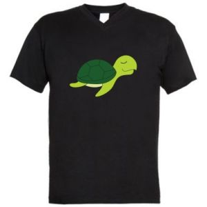 Męska koszulka V-neck Sleeping turtle