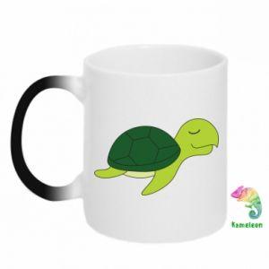 Chameleon mugs Sleeping turtle - PrintSalon