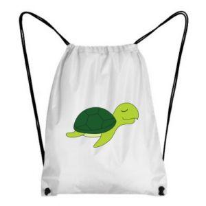 Backpack-bag Sleeping turtle - PrintSalon