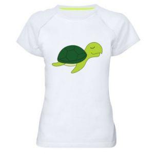 Damska koszulka sportowa Sleeping turtle