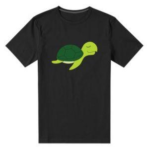Men's premium t-shirt Sleeping turtle - PrintSalon