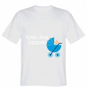 Koszulka męska Tutaj żyje dziecko