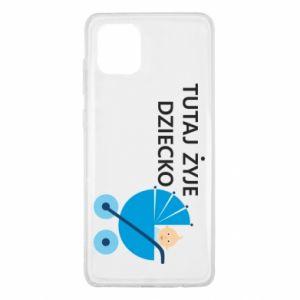 Samsung Note 10 Lite Case Tutaj żyje dziecko