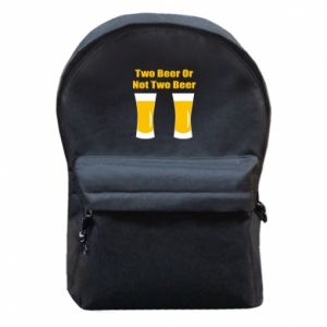 Backpack with front pocket Two beers or not two beers