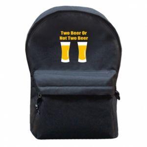 Plecak z przednią kieszenią Two beers or not two beers - PrintSalon