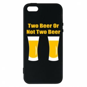 Etui na iPhone 5/5S/SE Two beers or not two beers - PrintSalon