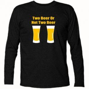 Koszulka z długim rękawem Two beers or not two beers - PrintSalon