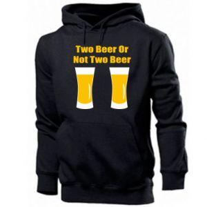 Męska bluza z kapturem Two beers or not two beers - PrintSalon