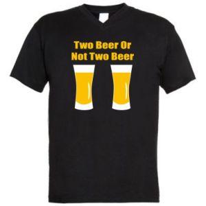 Męska koszulka V-neck Two beers or not two beers - PrintSalon