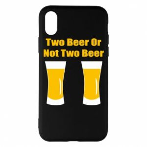 Etui na iPhone X/Xs Two beers or not two beers - PrintSalon