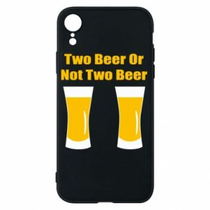 Etui na iPhone XR Two beers or not two beers - PrintSalon