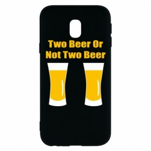 Samsung J3 2017 Case Two beers or not two beers