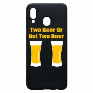 Etui na Samsung A20 Two beers or not two beers - PrintSalon