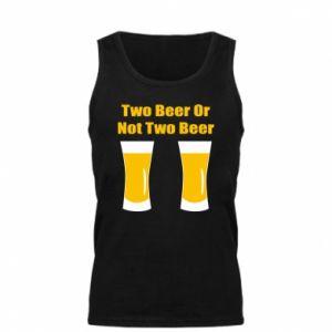 Męska koszulka Two beers or not two beers - PrintSalon
