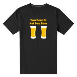 Męska premium koszulka Two beers or not two beers - PrintSalon