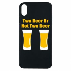 Etui na iPhone Xs Max Two beers or not two beers - PrintSalon