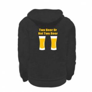 Kid's zipped hoodie % print% Two beers or not two beers