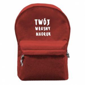 Plecak z przednią kieszenią Twój własny nadruk