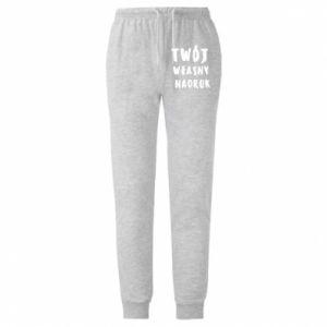 Spodnie lekkie męskie Twój własny nadruk