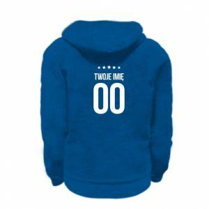 Kid's zipped hoodie % print% Your name
